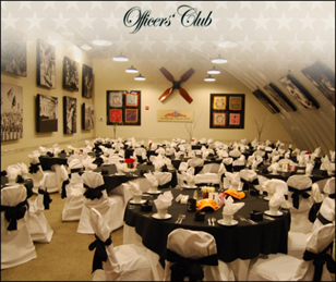"Celebrate life's greatest moments by holding your special event here at the award-winning and critically-acclaimed Armed Forces History Museum.  Whether it's an engagement party, wedding reception, corporate event, business meeting, holiday party, fundraiser, birthday or graduation celebration, reunion or a retirement celebration, the Armed Forces History Museum offers affordable rates and a flexible space.  Impress your guests and provide lasting memories as our unique venue offers your guests an unforgettable opportunity.     ""Wow, what an amazing event we had at your musuem!  I have never received so much support from the host venue before…We have gotten so much positive feedback from our gala guests, who are asking us to…have this event at the AFHM again next year.""  SPCA     Our Officers' Club is located at the heart of the museum and can accommodate up to 90 guests. Whether it's an elegant sit-down dinner, a casual meeting or seminar or a milestone celebration, the AFHM is sure to make it unforgettable.    Officers' Club at the heart of the museum accommodates up to 90 individuals Museum's Capacity of 836 Can Accommodate Larger Functions Available for elegant, sit-down dinners, meetings, seminars and parties Theater style seating also available Download our Private Event Rental Sheet     For more information on hosting your event here at this award winning museum, click on one of the links below:  USS Honolulu Group TN  Military Reunions     Birthday Parties     Wedding / Receptions     Corporate Events/ Private Parties     For more information, contact Kathy Weed, Marketing Coordinator (727) 539-8371 ext. 110 or by email at kathy@armedforcesmuseum.com  Note:  AFHM is handicap accessible and has free on-site parking.  Ample restrooms and seating are also available throughout the museum."